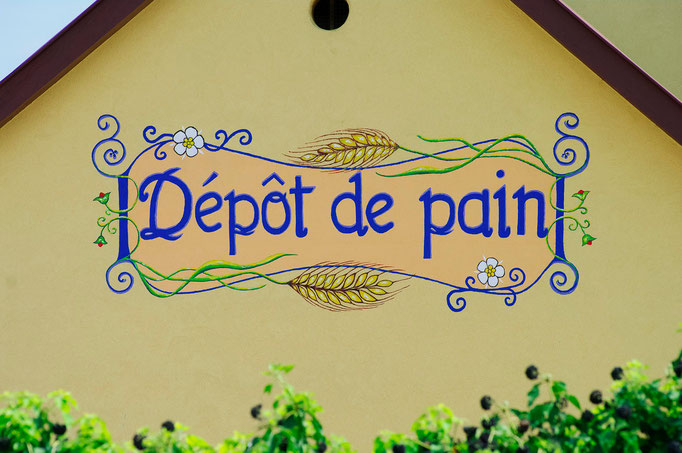 Fresque murale - Dépôt de pain du village de Bourgheim - Copyright Pascale Richert