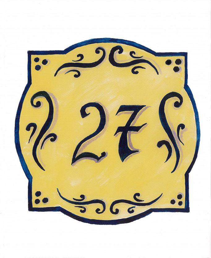 Exemple  de motif pour une ornementation du numéro postal - copyright  Pascale Richert