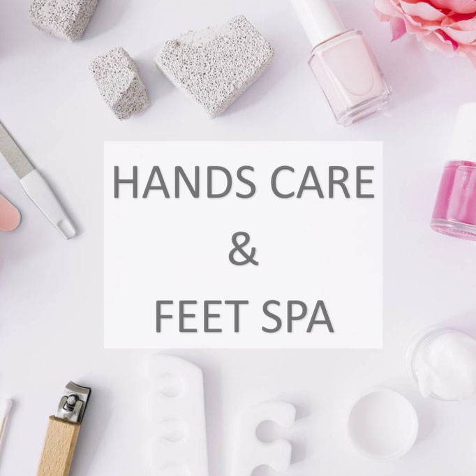 hand care and feet spa