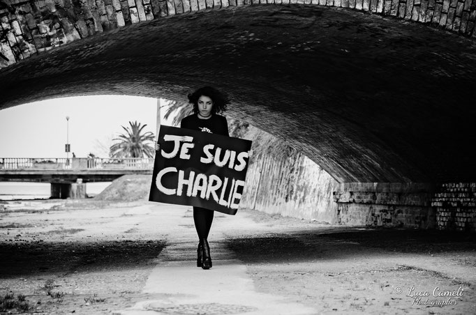 """Giorgia Fiori: """"Je Suis Charlie Hebdo"""" - Portrait ~ San Benedetto del Tronto"""