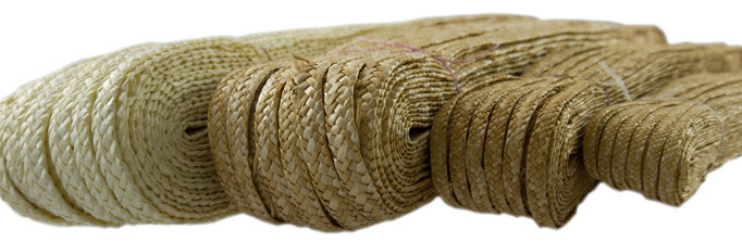 braid of wheat straw, widths: 4/5mm, 6/7mm, 8/9mm in nature, 12/13mm in nature & bleached