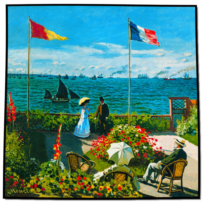 Artikel Nr. 1088 Terrasse am Meeresufer - Monet (100 x 100 cm)