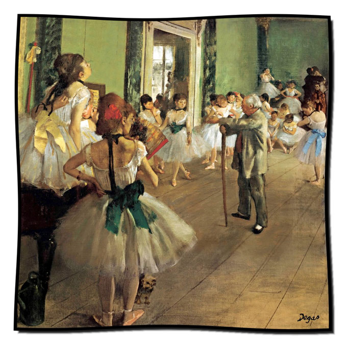 Artikel Nr. 1096 Die Tanzklasse - Degas (100 x 100 cm)