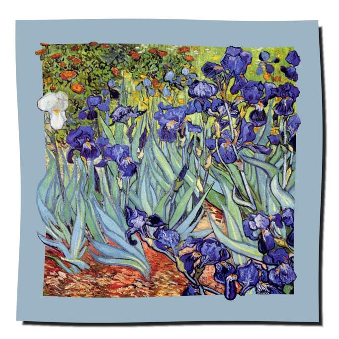Artikel Nr. 1073 Schwertlilien - Van Gogh (100 x 100 cm)