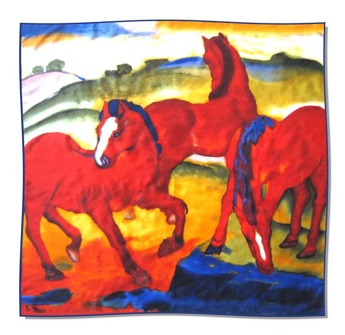Artikel Nr. 1060 - Rote Pferde - F. Marc (100 x 100 cm)