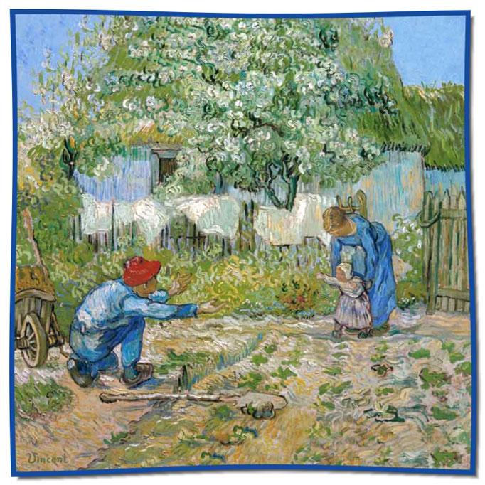Artikel Nr. 1067 Erste Schritte - Van Gogh (100 x 100 cm)