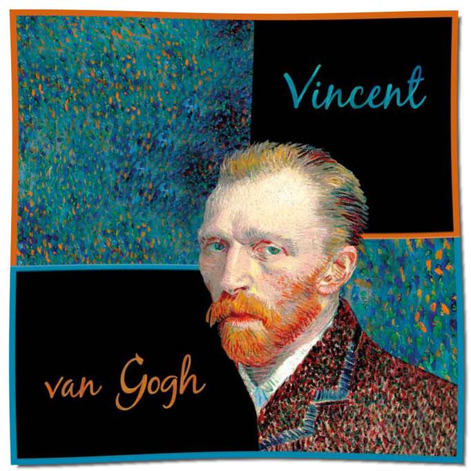 Artikel Nr. 1053 Selbstportrait/Chicago - Van Gogh (100 x 100 cm)