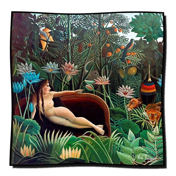 Artikel Nr. 1131 Der Traum (Mädchen) - Rousseau (100 x 100 cm)