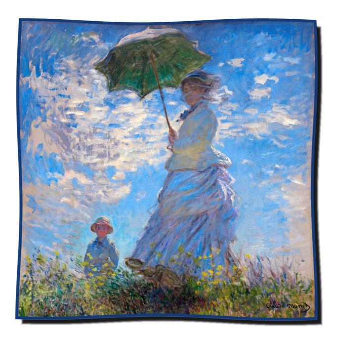 Artikel Nr. 1078 Frau mit Sonnenschirm - Monet (100 x 100 cm)