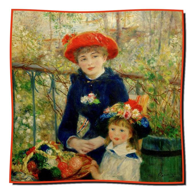 Artikel Nr. 1120 Schwestern (auf der Terasse) - Renoir (100 x 100 cm)