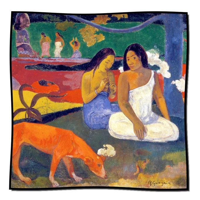 Artikel Nr. 1081 Der rote Hund - Gauguin (100 x 100 cm)