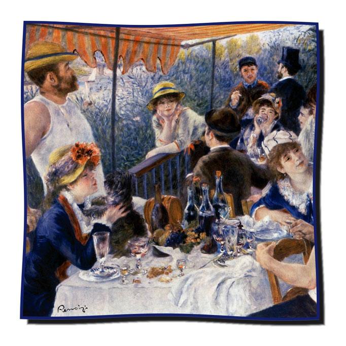 Artikel Nr. 1121 Frühstück der Ruderer (mit Hund) - Renoir (100 x 100 cm)