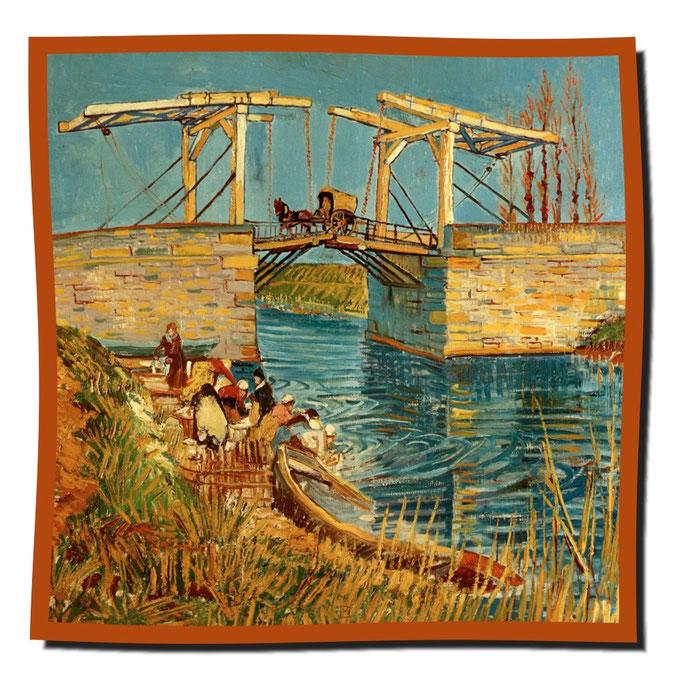 Artikel Nr. 1072 Brücke von Arles - Van Gogh (100 x 100 cm)