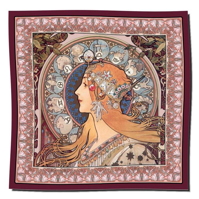 Artikel Nr. 1100 - Zodiac rot (100 x 100 cm)
