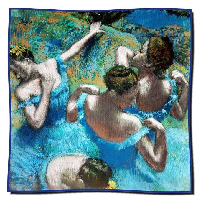 Artikel Nr. 1097 Tänzerinnen in blauen Kostümen - Degas (100 x 100 cm)