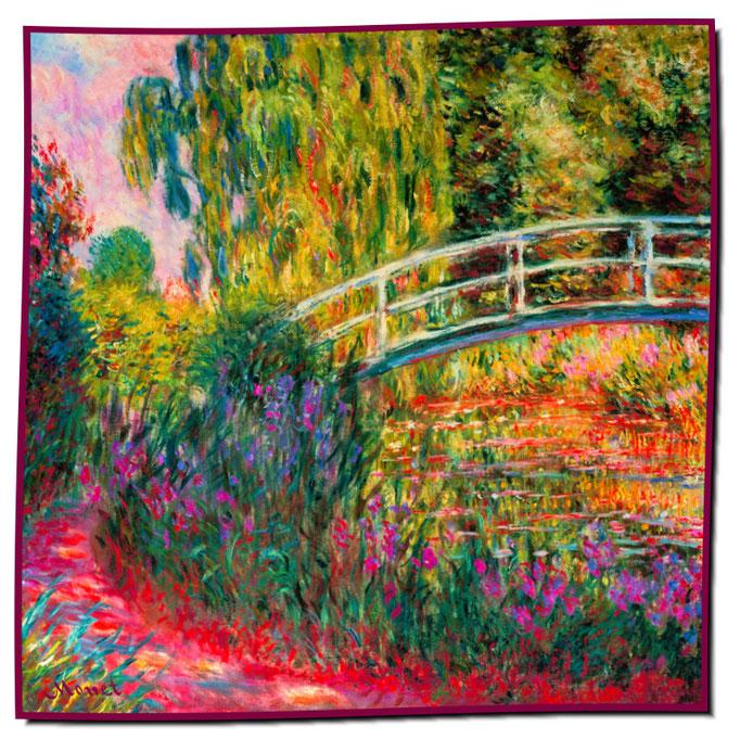 Artikel Nr. 1087 Japanische Brücke - Monet (100 x 100 cm)