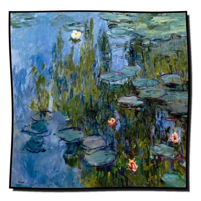 Artikel Nr. 1079 Seerosen2 - Monet (100 x 100 cm)
