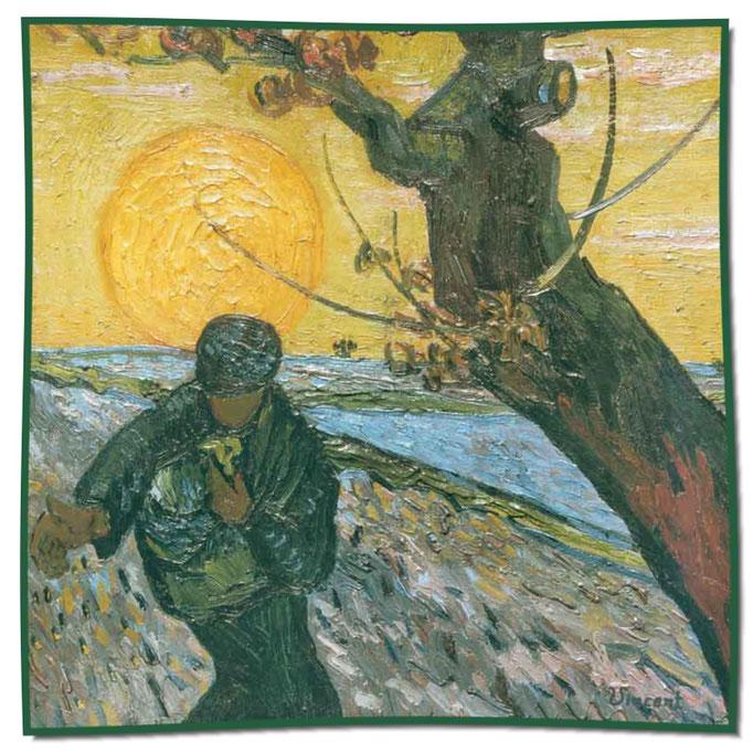 Artikel Nr. 1059 Sämann bei untergehender Sonne - Van Gogh (100 x 100 cm)