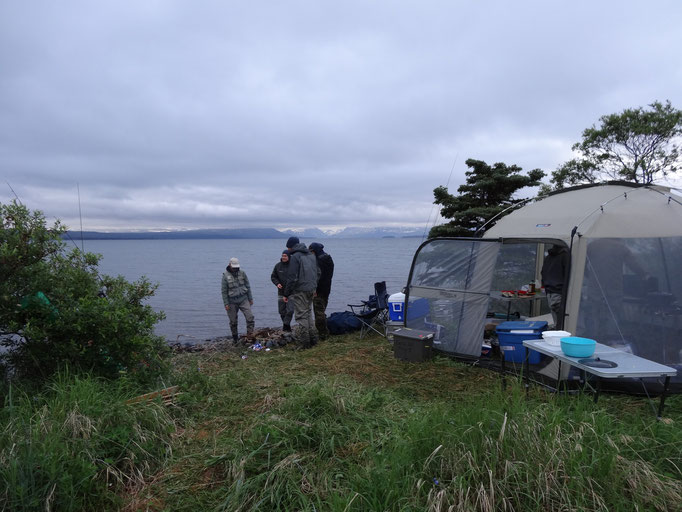 Perfekte Sicht auf den Nonvianuk Lake