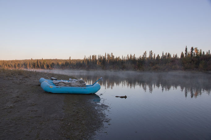 kalter Morgen am Kobuk River