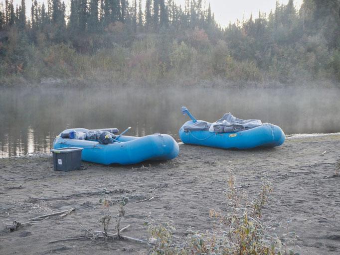 kalter Morgen am Kobuk River