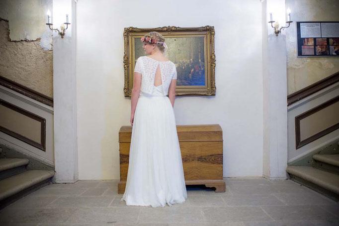 """""""Nori"""" - zweiteiliges  Hochzeitskleid mit Spitzenjäckchen und Tüllrock"""