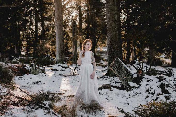 Brautkleid MAYRA - lässig , natürlich und romantisch