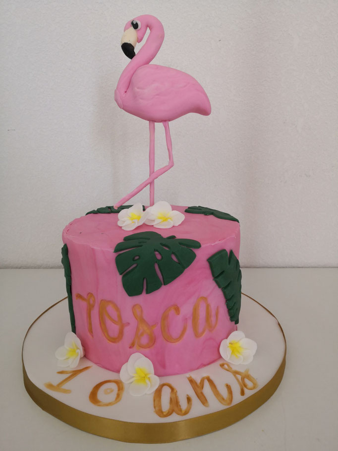 Flamant rose cake