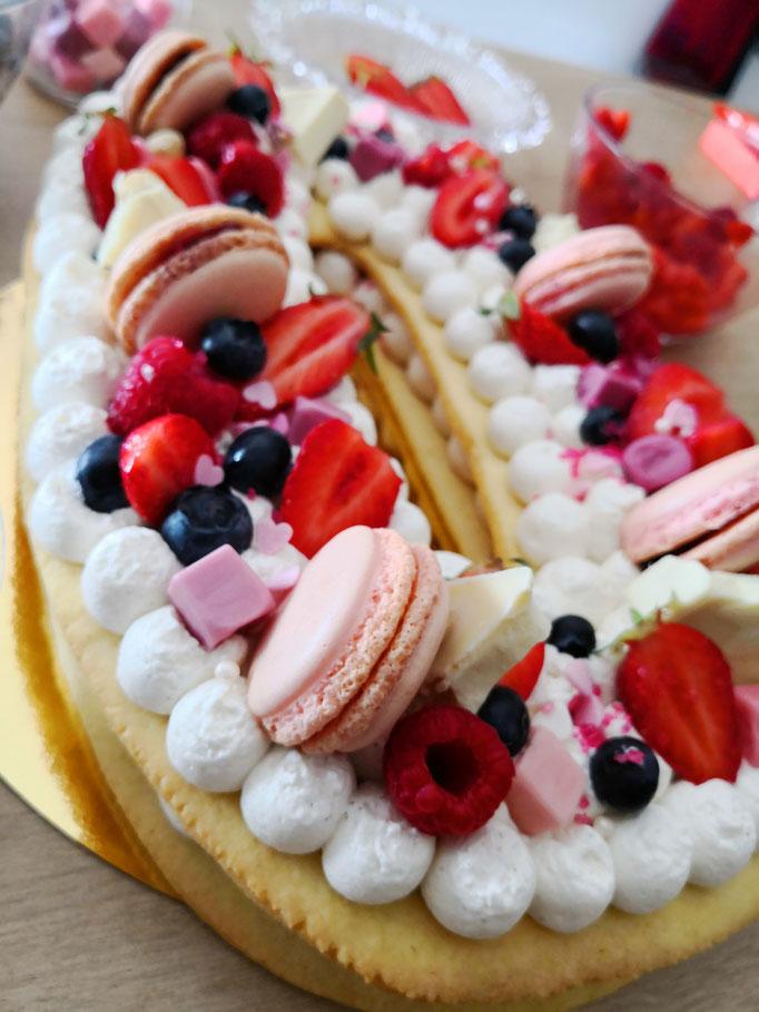 Number cake Parfum fruits rouges