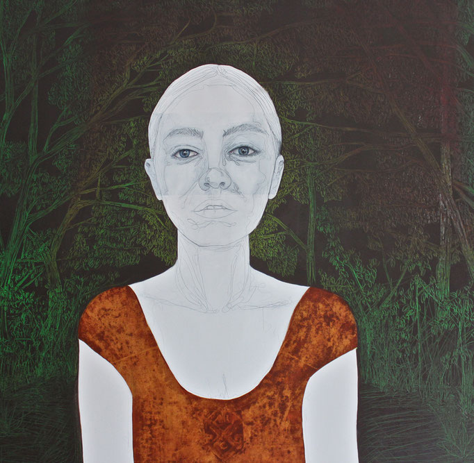 Ninlil / Oil on Canvas 100 x 100 Cm  2015