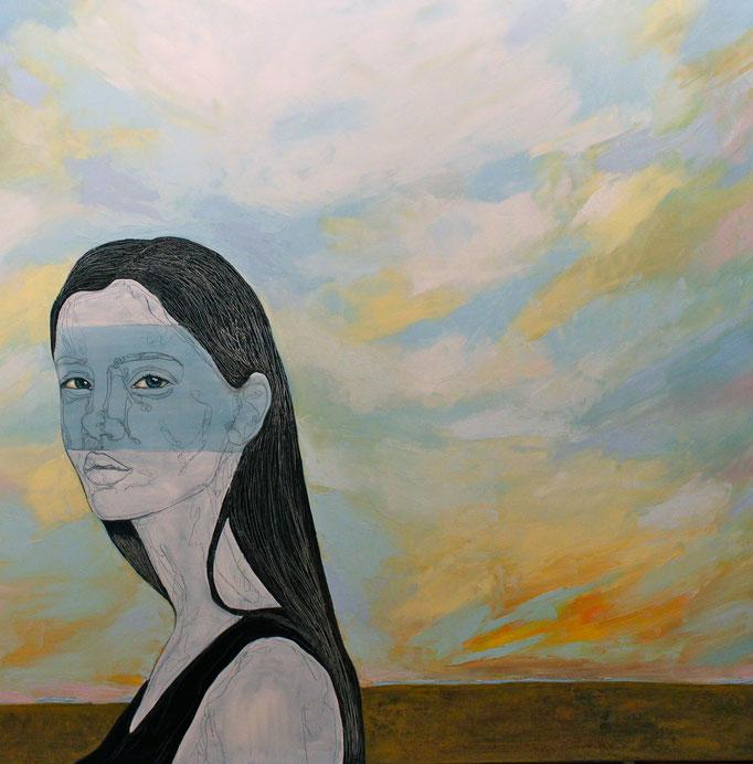 Quiet - Calme / Oil on Canvas 100 x 100 Cm  2015