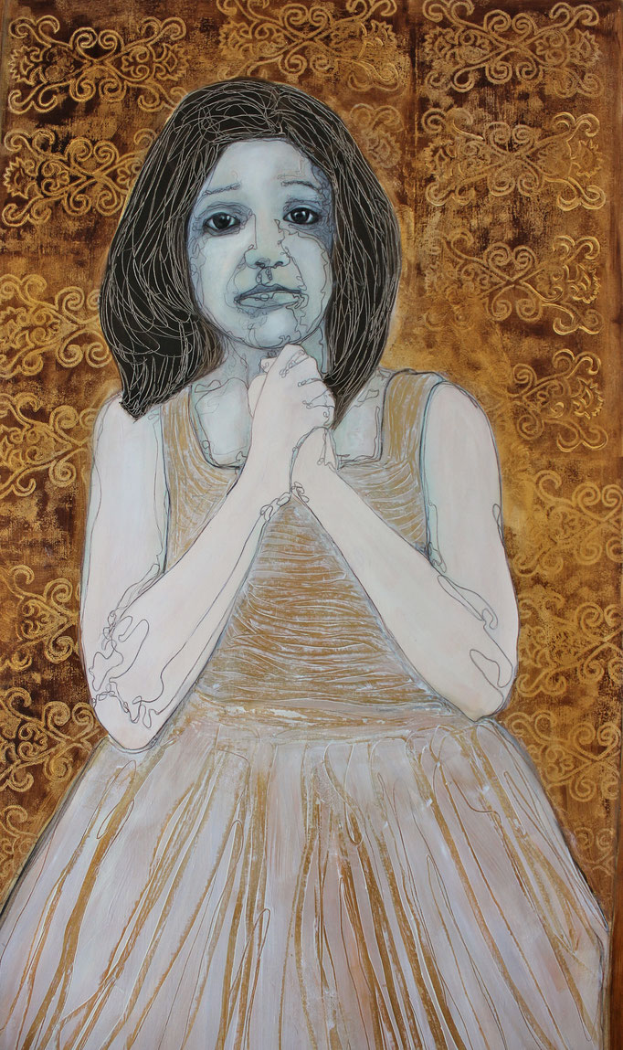 Child Bride V / Oil on Paper 40 x 50 Cm  2015