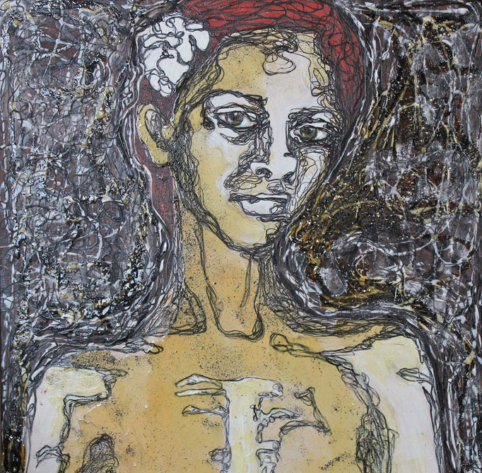 Beauty - Belle / Mixed Technique on Canvas 70 x 100 Cm  2013 Private Collection