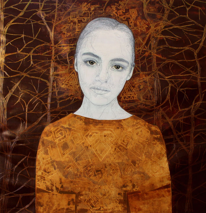 Kybele / Oil on Paper 100 x 100 Cm  2015 Private Collection