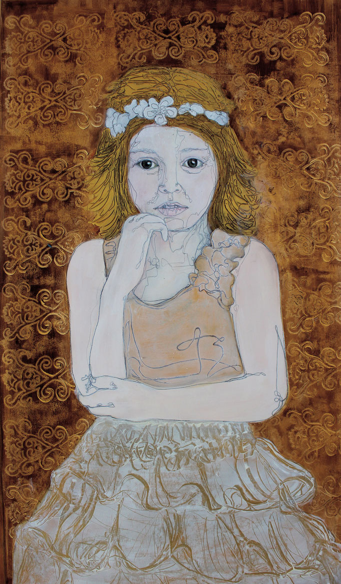 Child Bride IV / Oil on Paper 40 x 50 Cm  2015