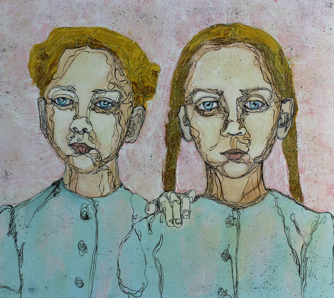 Twins - Jumelles / Oil on Canvas 70 x 100 Cm  2013 Private Collection