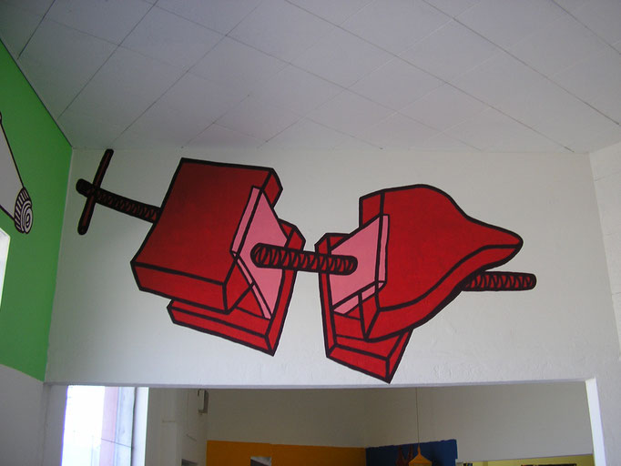 And God, wall drawing, permanent installation, 2007