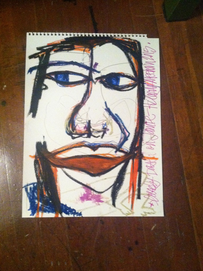 Mixed Media drawing on paper, 2015