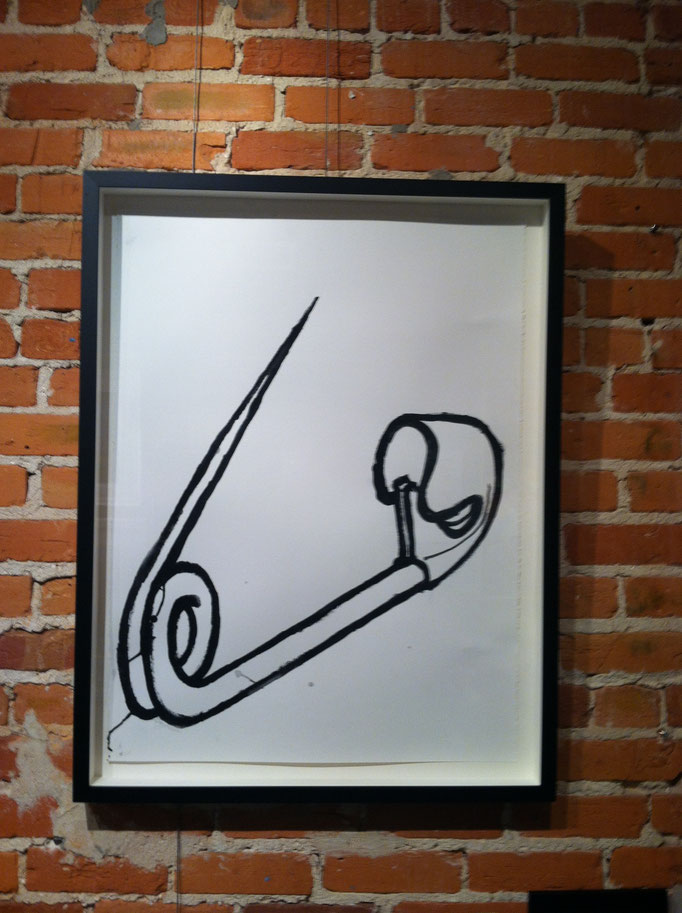 """Drawing on paper, 24""""x36"""", Saf"""