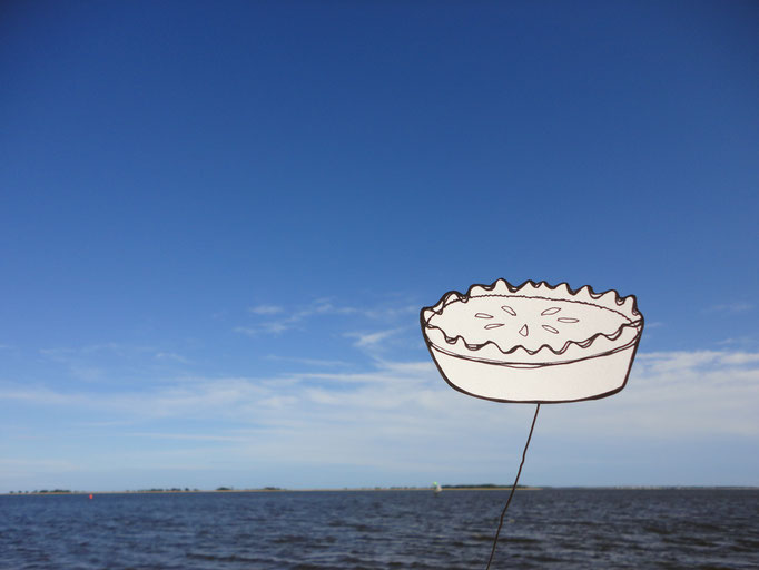 Pie in the Sky, drawing on wire and photography, 2013