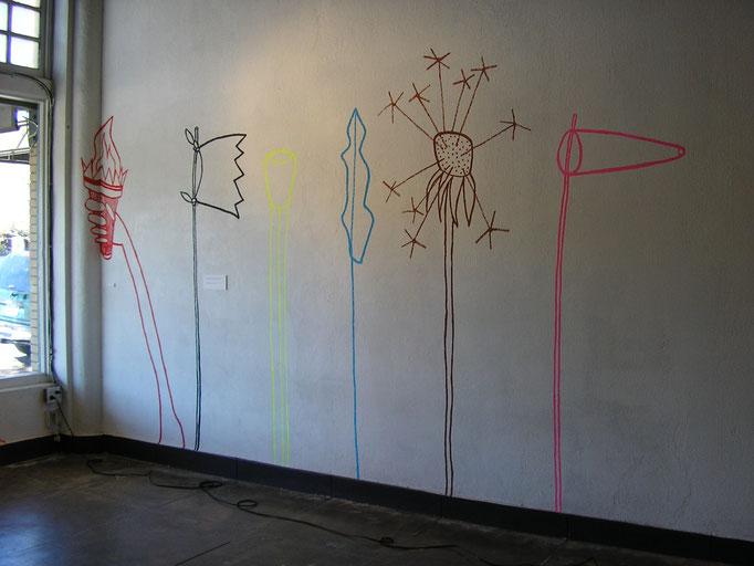 Wall drawings, 2005