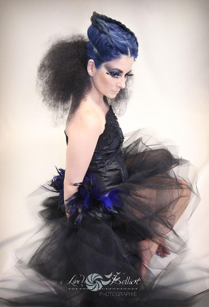 Finaliste au concours de coiffure d'avant-garde Coiff'n Co 2014 - Charlotte Rochard (coiffure), Typhaine Pretinha (modèle), Emilie Brunet (Maquillage)