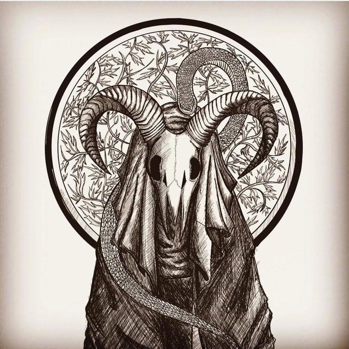 skull,illustration,art,スカル,イラスト,devil,デビル