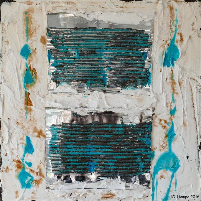 Rust art 3 30x30x4 cm Leinwand
