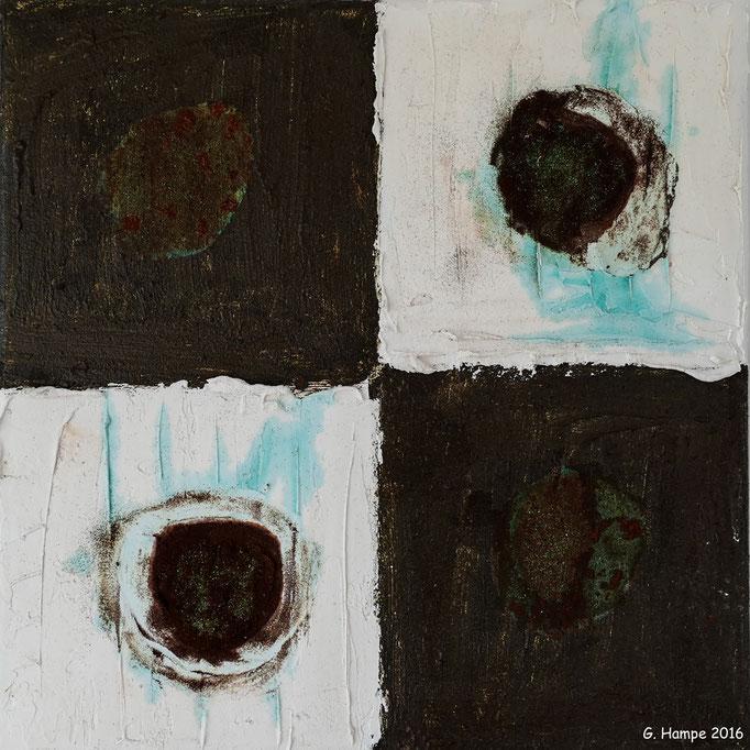 Rust art 4 30x30x4 cm canvas