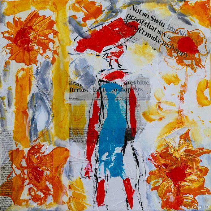 Feeling the Sixties 40x40x4 cm canvas