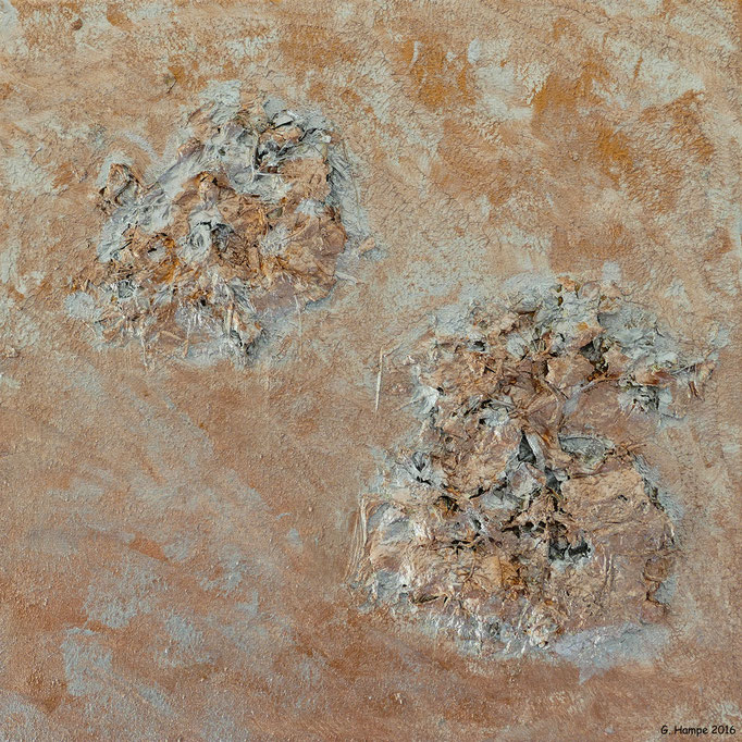 The copper hydrangea 40x40x4cm Leinwand