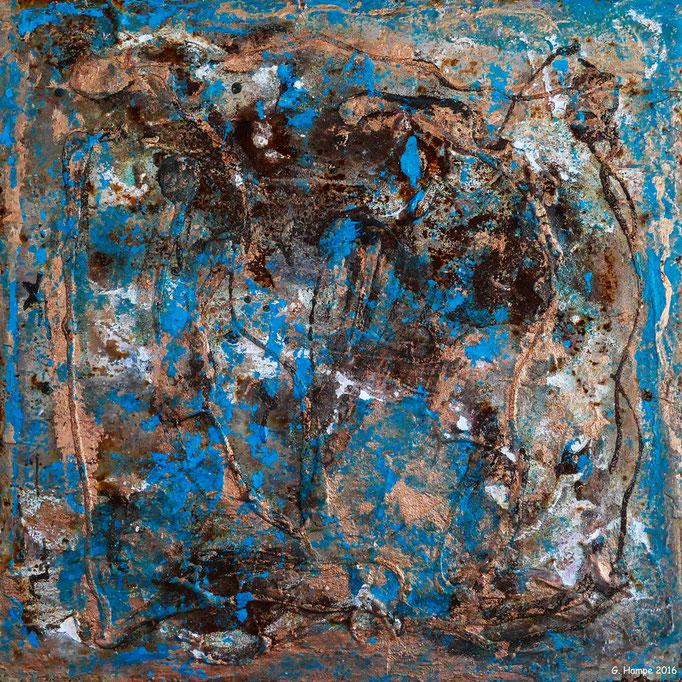 Rust art 5 30x30 Eisenplatte