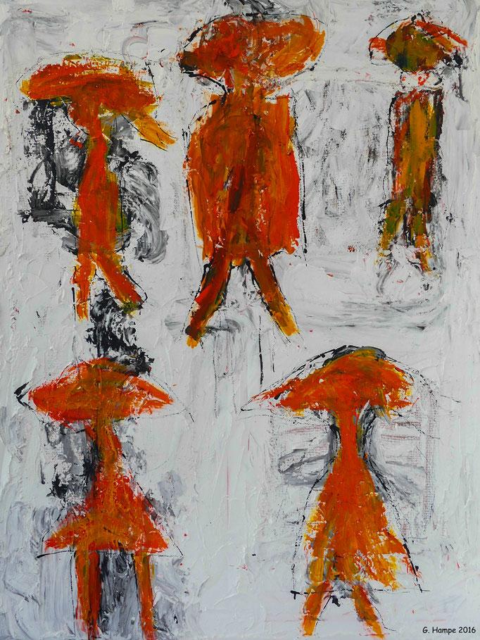 Five 80x120 cm canvas