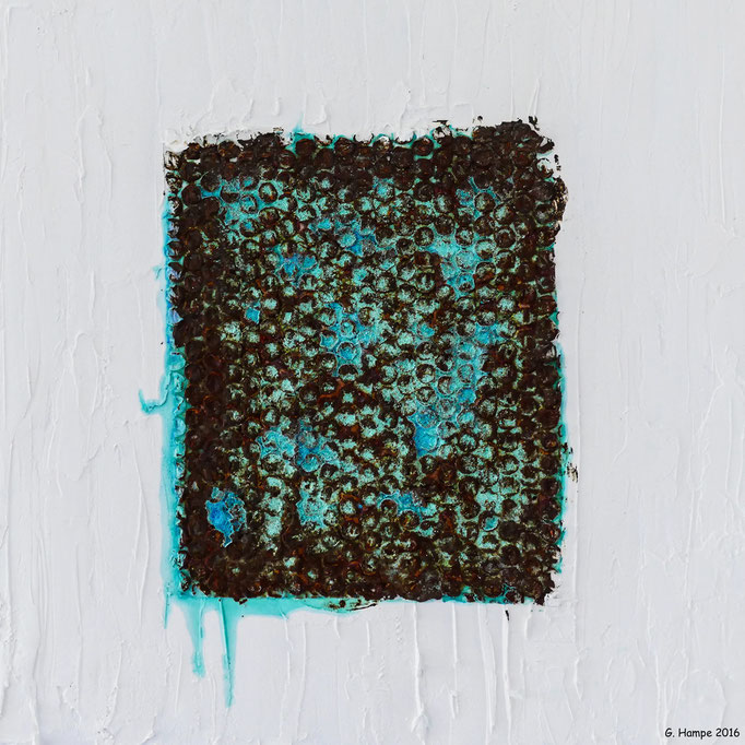 Rust art 2 40x40x4 cm Leinwand